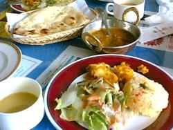 インド料理のランチ