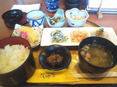 花格子のおばんざい定食