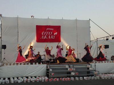 かわにし音灯り 2012 のフラメンコショー