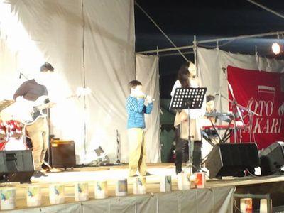 かわにし音灯り 2012 の TeN の演奏