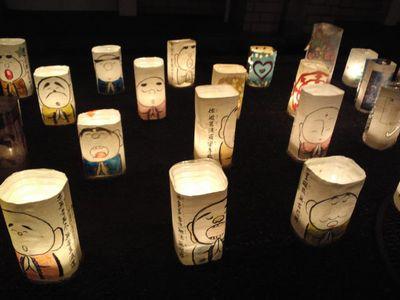 かわにし音灯り 2012 のキャンドル
